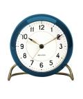 アルネ・ヤコブセン置き時計 目覚まし時計 ARNE JACOBSEN Table Clock 43678 STATION ブルー