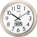 チャイムを鳴らす時間をプログラム管理!電波掛け時計 ネムリーナPC 4FN402-019 シチズン時計