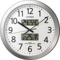 チャイムを鳴らす時間をプログラム管理!電波掛け時計 プログラムカレンダー404 4FN404SR19 リズム時計