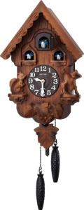 カッコークロック鳩時計 カッコーパンキーR 4MJ221RH06 リズム時計 カッコーが鳴いて時刻を知らせます!