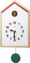 シンプルカッコークロック鳩時計 カッコースタイル122 4MJ412RH06 リズム時計 カッコーが鳴いて時刻を知らせます!