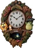 「となりのトトロ」のテーマ曲が流れます! ととろの振り子時計 トトロM429 4MJ429-M06 リズム時計