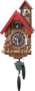 カッコークロック鳩時計 カッコーチロリアンR 4MJ732RH06 リズム時計 カッコーが鳴いて時刻を知らせます!