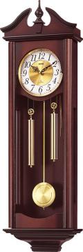 格調高く時の訪れを告げます! 報時付き振り子時計 キャロラインR 4MJ742RH06 (シチズン時計) リズム時計