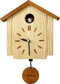 カッコークロック鳩時計 クウォーツウッディーカッコー898 4MJ898AK06 リズム時計 カッコーが鳴いて時刻を知らせます!