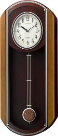 報時振り子時計 RHG-M006 リズム時計 4MN408HG06 電波振り子時計 無料名入れ