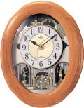 文字盤がメロディに合わせてダイナミックに変化!からくり時計スモールワールド ソルシアF  4MN422RB06 リズム時計