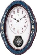 イタリアの伝統工芸、象嵌細工が美しい!ハイグレード RHG-M90 インタルシア振り子時計 リズム時計 4MN461HG11
