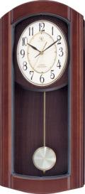 報時振り子時計 ハイグレード RHG-M95N リズム時計 4MN475HG06 電波振り子時計 無料名入れ