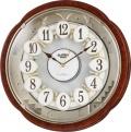 ダイナミックなからくり動作が楽しめます!からくり時計スモールワールド コンベルS 4MN480RH23 リズム時計