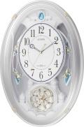 美しいメロディーで時を知らせる!アミュージングクロック電波時計 スモールワールドクウィーダムN 4MN484RN03 シチズン時計