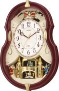 メロディと共に4個のランプが点滅!アミュージングクロック スモールワールドコンチェルDX 4MN495RH06 リズム時計