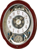 文字盤がメロディに合わせてダイナミックに変化!からくり時計スモールワールド ブルームDX 4MN499RH23 リズム時計