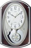 美しいメロディーで時を知らせる!からくり時計 電波時計 スモールワールドポラールG  4MN506RH23 シチズン時計