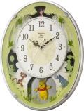 くまのプーさんと楽しい仲間のディズニークロックです!アミュージング くまのプーさんM523振り子時計 4MN523MC03 リズム時計