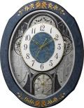 象嵌細工が美しい からくり時計!プライムウィーブ 報時掛け時計 リズム時計 4MN527RH04