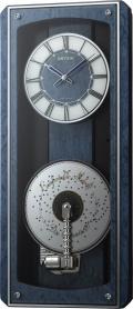 現代に甦るミュージックボックス!プライムオルガニートMN オルゴール電波掛け時計 4MN532HG04 リズム時計 無料名入れ