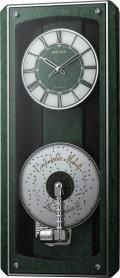 現代に甦るミュージックボックス!プライムオルガニートMN オルゴール電波掛け時計 4MN532HG05 リズム時計 無料名入れ