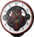 文字盤が360度回転します!からくり時計 機動戦士ガンダム ZEON CHAR'S CUSTOM  4MN534MG01 リズム時計