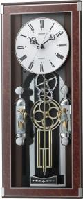 毎正時に歯車飾りがメロディに合わせて回転します!からくり振り子時計 ソフィアーレプリモ 4MN535SR23 リズム時計