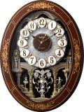 花象嵌細工の高級感があふれています!からくり時計スモールワールド レガロ 4MN546RH06 リズム時計