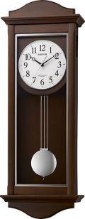 電波振り子時計 報時 シューマスR 4MN552SR06 リズム時計  名入れ