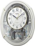 からくり時計 電波時計 スモールワールド アルディN 4MN553RH03 リズム時計 掛け時計 名入れ