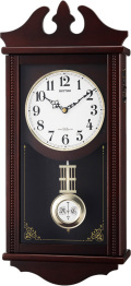アンティーク調で美しい音色の報時付き!電波振り子時計 ペデルセンR 4MNA03RH06 シチズン時計 リズム時計