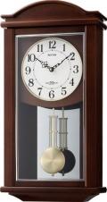 シンプルデザインで報時付き!電波振り子時計 セントルイスF 4MNA05-006 シチズン時計 リズム時計