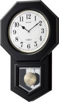 アンティーク調で報時付き!電波振り子時計 アンバリードR 4MNA07RH02 シチズン時計 リズム時計