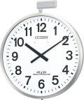 JIS防雨タイプ!今あるポールに簡単取りつけ!屋外用電波掛け時計 ポールウェーブSF 4MY611-N19 ポールφ80~100mm シチズン時計