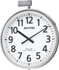 JIS防雨タイプ!今あるポールに簡単取りつけ!屋外用電波掛け時計 夜間自動点灯タイプ ムーンライトN 4MY812RH19 ポールφ80~100mm シチズン時計