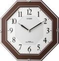 補助電池搭載のサイレントソーラークロック! 電波掛け時計4MY826-006 サイレントソーラーM826 シチズン時計 グリーン購入法適合