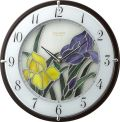 繊細な美のステンドグラス!アイリス RHG-M005 4MY845HG12 掛け時計 リズム時計 無料名入れ