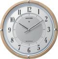 サイレントソーラークロック! 電波掛け時計4MY848SR06 サイレントソーラーM848 リズム時計