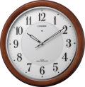 補助電池搭載のソーラークロック! 電波掛け時計 4MY852-006 ソーラーM852 シチズン時計