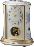 香蘭社・リズム時計共同開発品 回転飾り置き時計 ハイクオリティコレクション 染錦遊犬の図701 リズム時計 4RH701HG04 無料名入れ