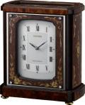 象嵌細工が美しい!置き時計 オルゴール ハイグレード RHG-R03 リズム時計 4RN431HG06 無料名入れ