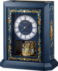 イタリア象嵌細工が美しい!振り子置き時計 オルゴール ハイグレード RHG-R07 リズム時計 4RN433HG04 無料名入れ