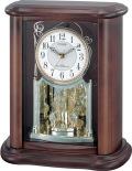 優雅で豪華なクリスタル飾りが魅力!置き時計 パルロワイエR668N 4RY668-N06シチズン時計