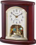 優雅で豪華なクリスタル回転飾りが魅力!回転振り子 置き時計 4RY681-N06 シチズン時計