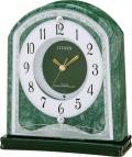 蛇紋石が豪華!置き時計 パルラフィーネR689 4RY689-005 シチズン時計