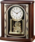優雅で豪華なクリスタル飾りが魅力!置き時計 パルロワイエR698SR  4RY698SR06 リズム時計 シチズン時計