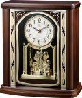 優雅で豪華なクリスタル飾りが魅力!回転振り子 置き時計  RHG-S79  4RY698HG06 リズム時計