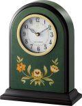 イタリアン象嵌細工が美しい!置き時計 ハイグレード RHG-R08 リズム時計 4RY711HG05 無料名入れ