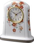 香蘭社・リズム時計共同開発品 置き時計 ハイクオリティコレクション 桜絵415 リズム時計 4SE415HG01 無料名入れ