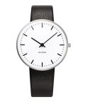 アルネ・ヤコブセン腕時計 ARNE JACOBSEN City Hall Watch Leather  34mm 53201-1601