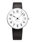 アルネ・ヤコブセン腕時計 ARNE JACOBSEN Station Watch Leather  34mm 53401-1601