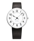 アルネ・ヤコブセン腕時計 ARNE JACOBSEN Station Watch Leather  34mm 53401-1601