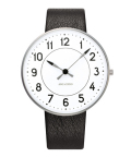 アルネ・ヤコブセン腕時計 ARNE JACOBSEN Station Watch Leather  40mm 53402-2001